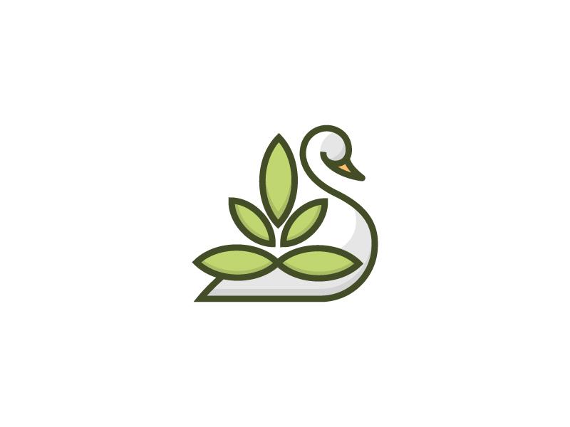 天鹅元素logo 欣赏-第10张