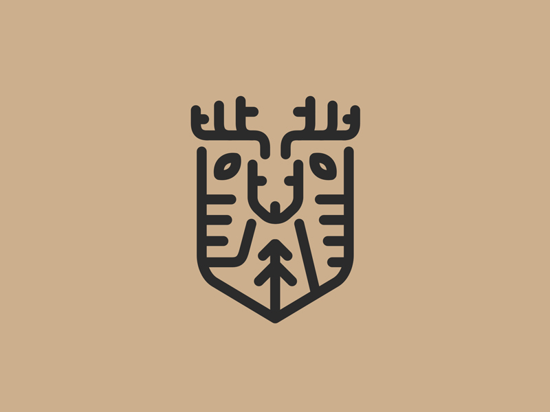 鹿元素logo 欣赏-第7张