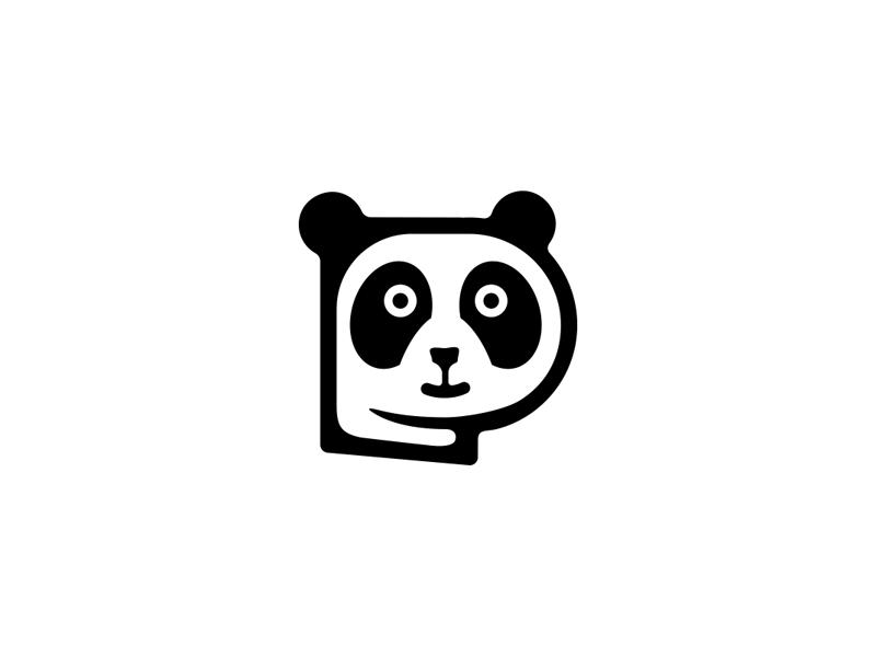 熊猫元素logo 欣赏-第3张