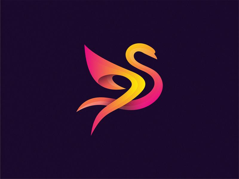 天鹅元素logo 欣赏-第3张