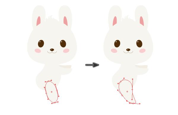 手把手教你用Ai绘制拿着郁金香的可爱兔子 教程-第16张