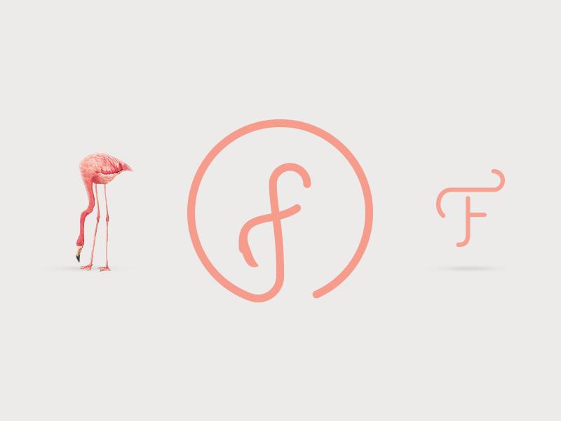 火烈鸟元素logo 欣赏-第10张