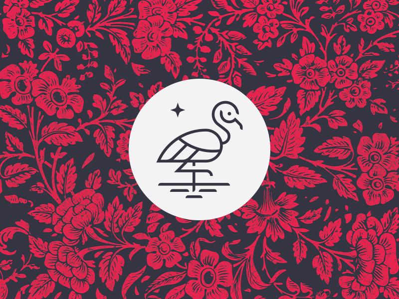 火烈鸟元素logo 欣赏-第5张