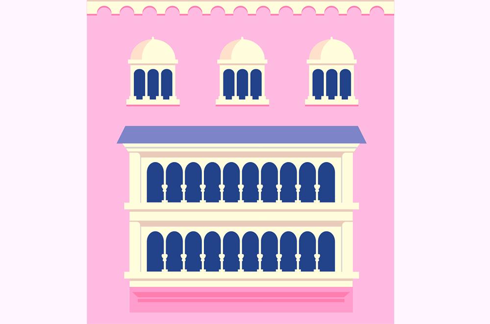 梦幻童话!绘制细节丰富的水上城堡群像 教程-第16张