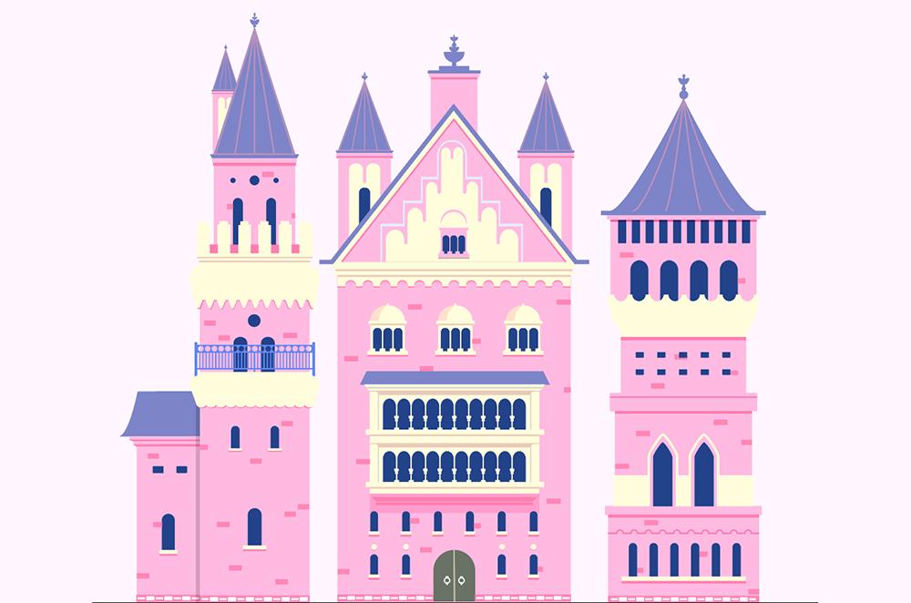 梦幻童话!绘制细节丰富的水上城堡群像 教程-第24张