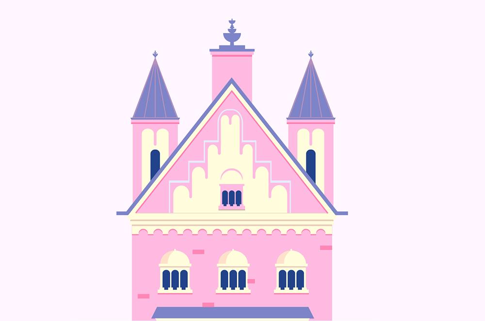 梦幻童话!绘制细节丰富的水上城堡群像 教程-第19张