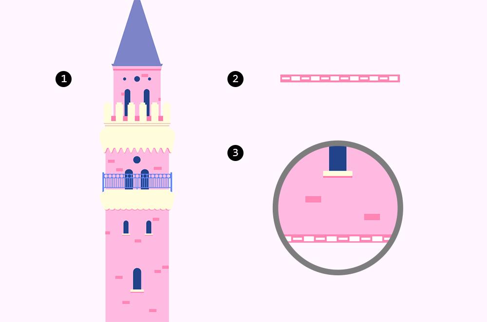 梦幻童话!绘制细节丰富的水上城堡群像 教程-第8张
