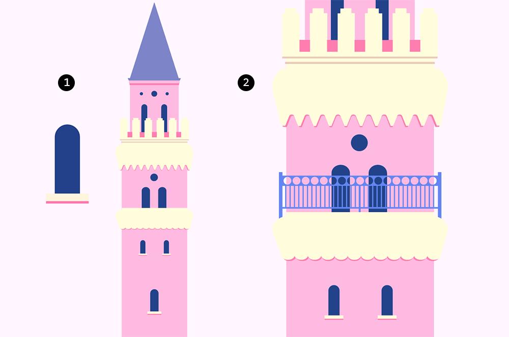 梦幻童话!绘制细节丰富的水上城堡群像 教程-第7张