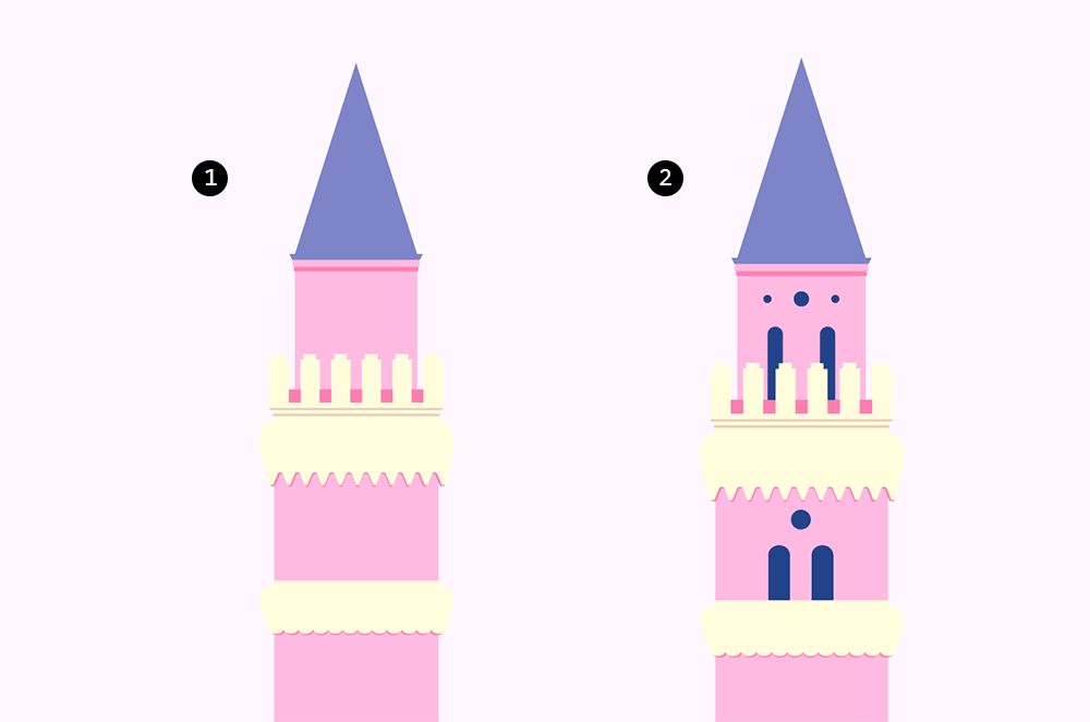 梦幻童话!绘制细节丰富的水上城堡群像 教程-第6张