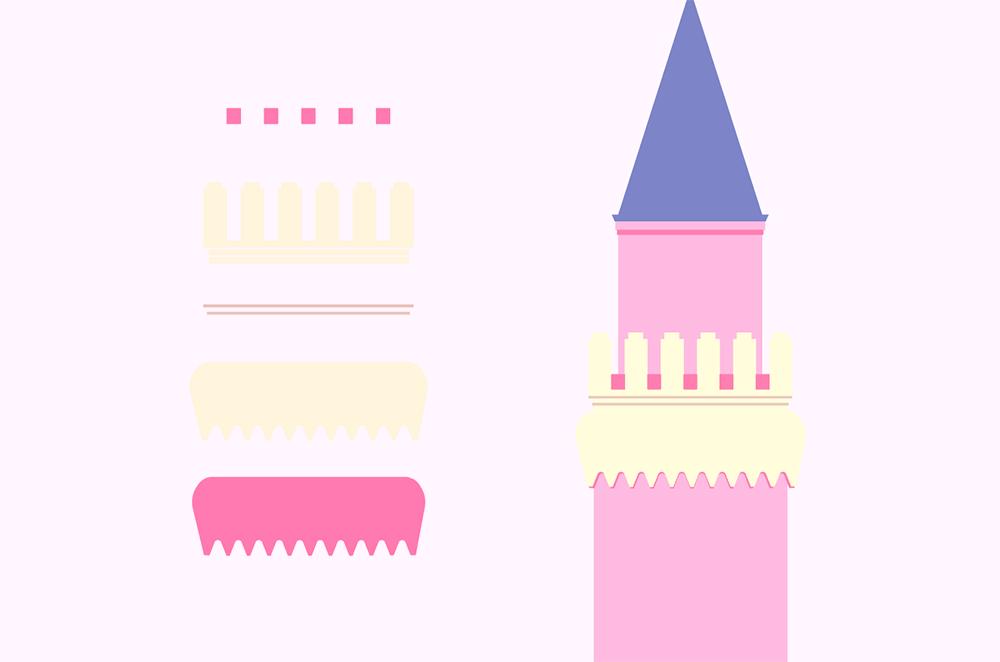 梦幻童话!绘制细节丰富的水上城堡群像 教程-第4张