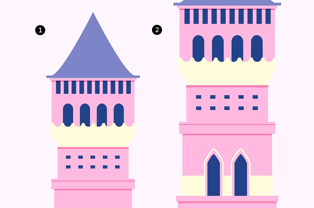 梦幻童话!绘制细节丰富的水上城堡群像 教程-第22张