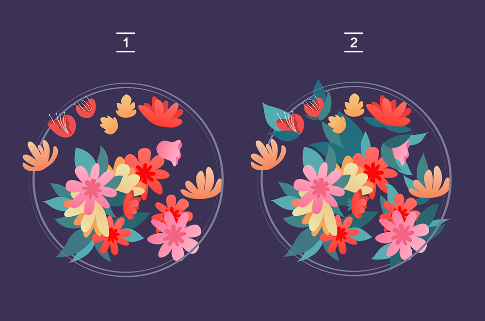 用AI绘制矢量花丛文字 教程-第7张