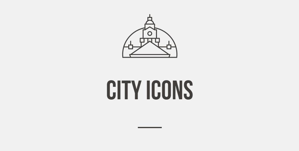 城市图标icon下载 元素-第1张