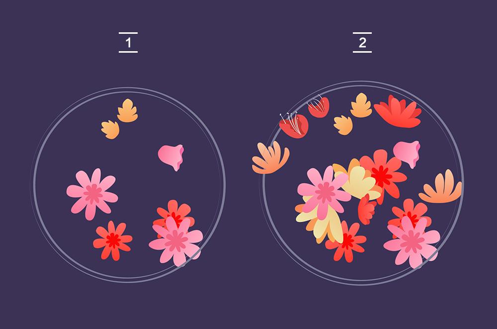 用AI绘制矢量花丛文字 教程-第6张