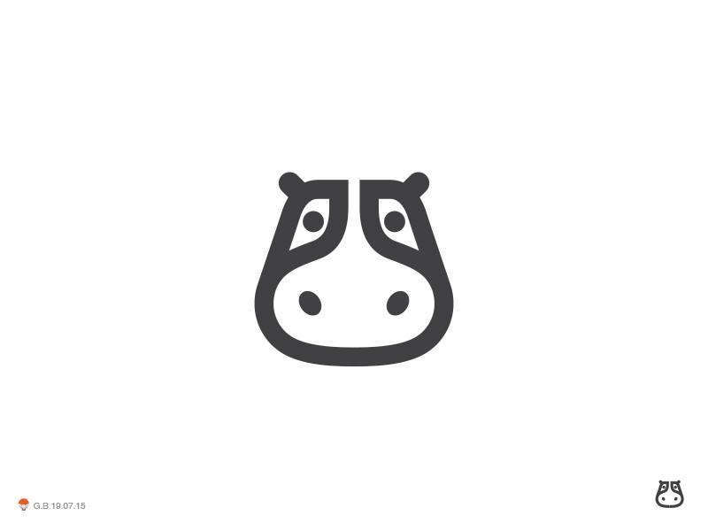 河马元素logo 欣赏-第43张