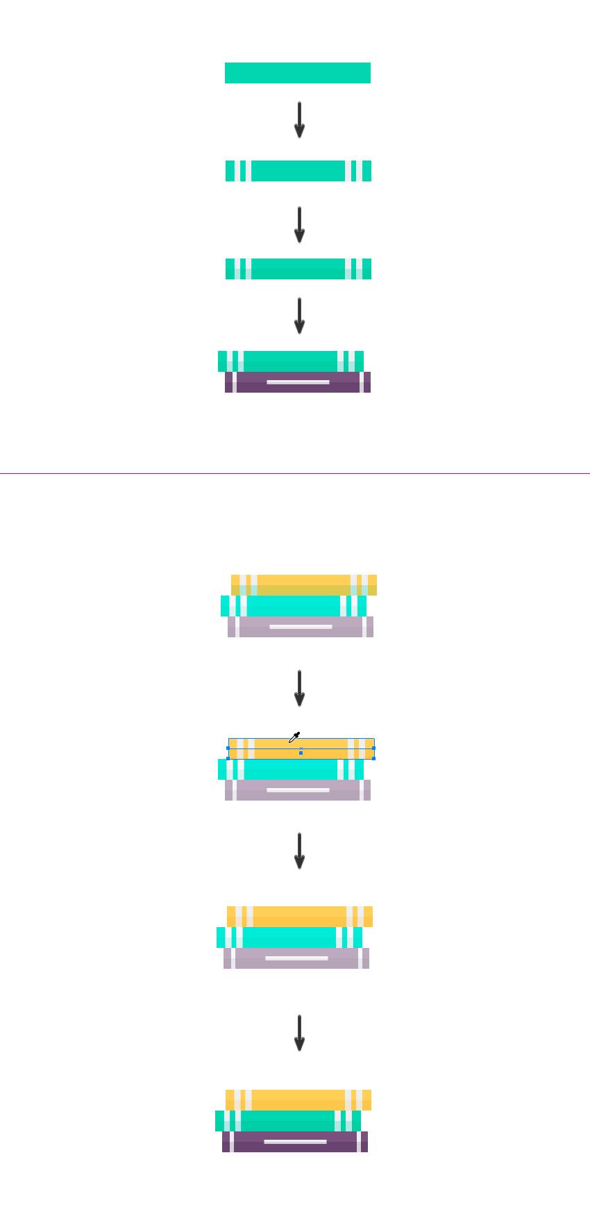 如何在Adobe Illustrator中创造扁平化置物架插图 教程-第14张