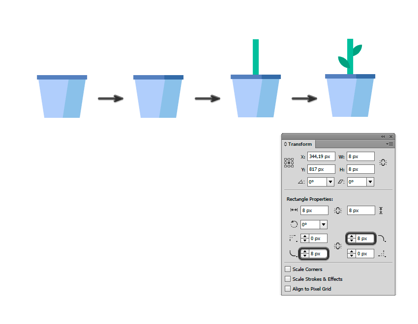 如何在Adobe Illustrator中创造扁平化置物架插图 教程-第21张