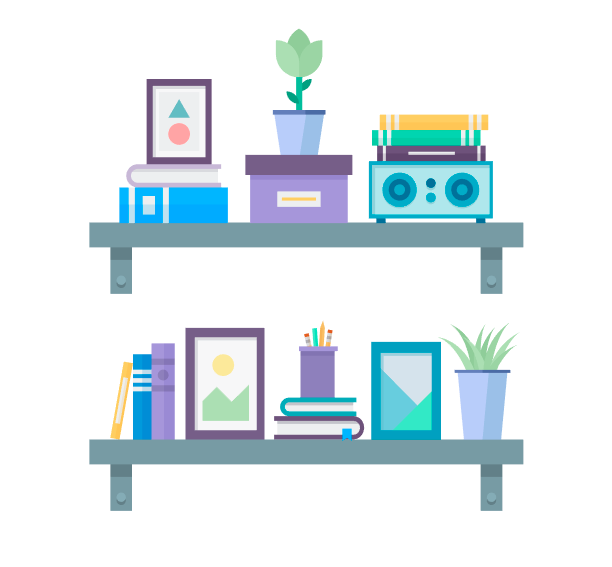 如何在Adobe Illustrator中创造扁平化置物架插图 教程-第31张