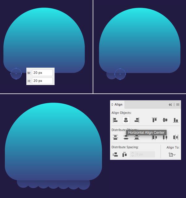 只要10个步骤在Adobe Illustrator中绘制可爱的发光水母 教程-第5张