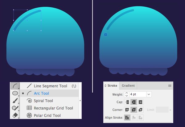 只要10个步骤在Adobe Illustrator中绘制可爱的发光水母 教程-第6张