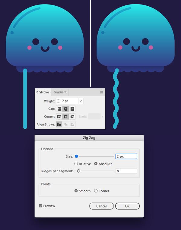 只要10个步骤在Adobe Illustrator中绘制可爱的发光水母 教程-第9张