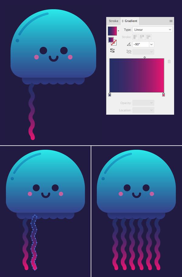 只要10个步骤在Adobe Illustrator中绘制可爱的发光水母 教程-第10张