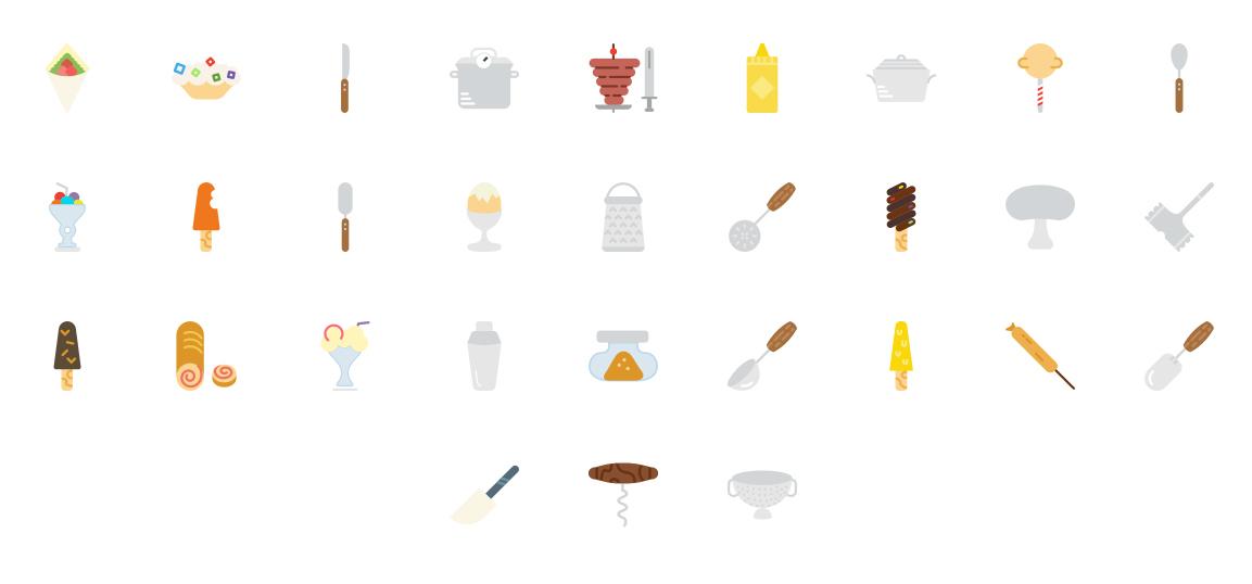 230个美食图标下载 元素-第5张