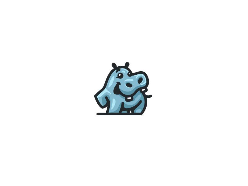 河马元素logo 欣赏-第37张