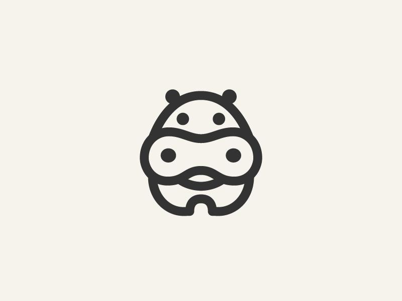河马元素logo 欣赏-第25张