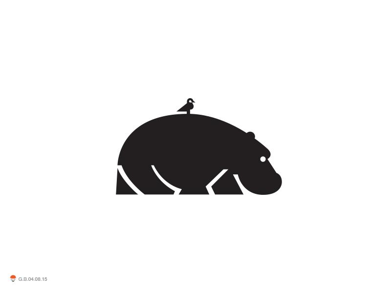 河马元素logo 欣赏-第17张
