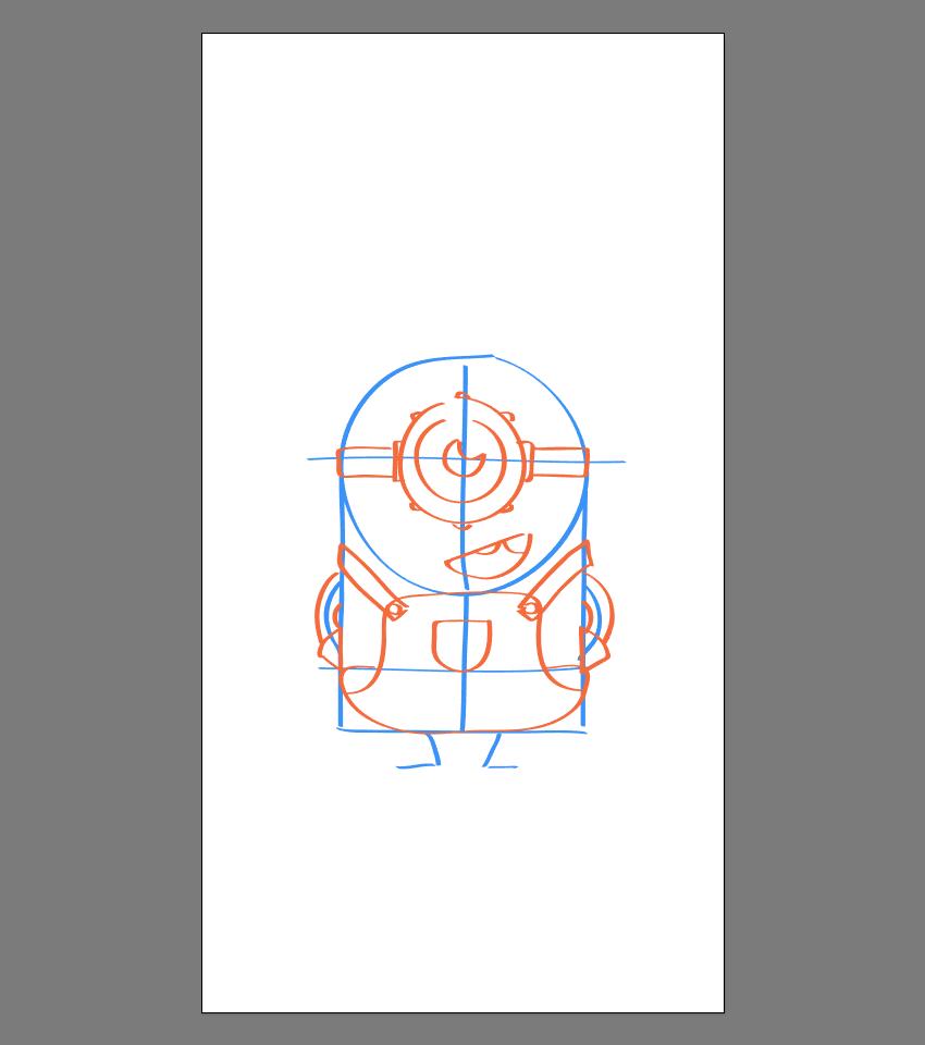使用Adobe Illustrator绘制矢量小黄人教程 教程-第19张