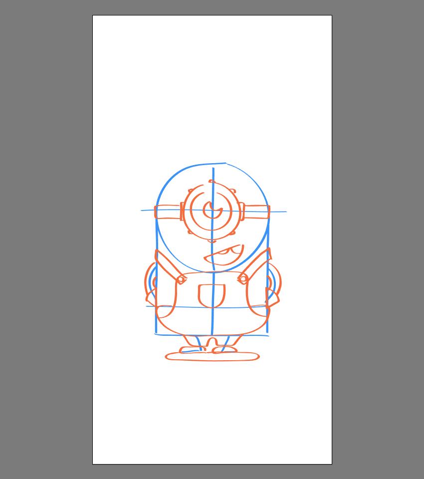 使用Adobe Illustrator绘制矢量小黄人教程 教程-第20张