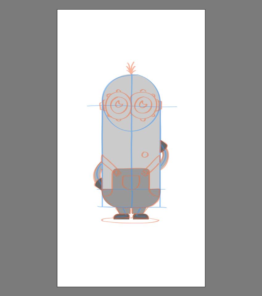 使用Adobe Illustrator绘制矢量小黄人教程 教程-第31张