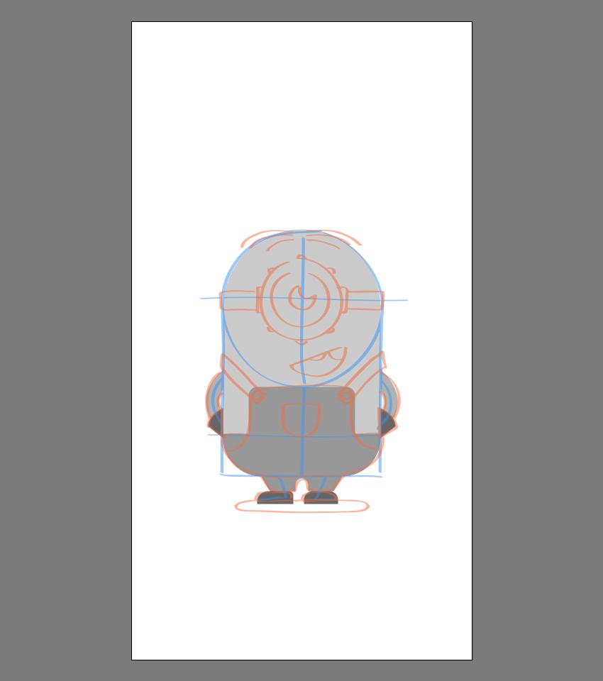 使用Adobe Illustrator绘制矢量小黄人教程 教程-第22张