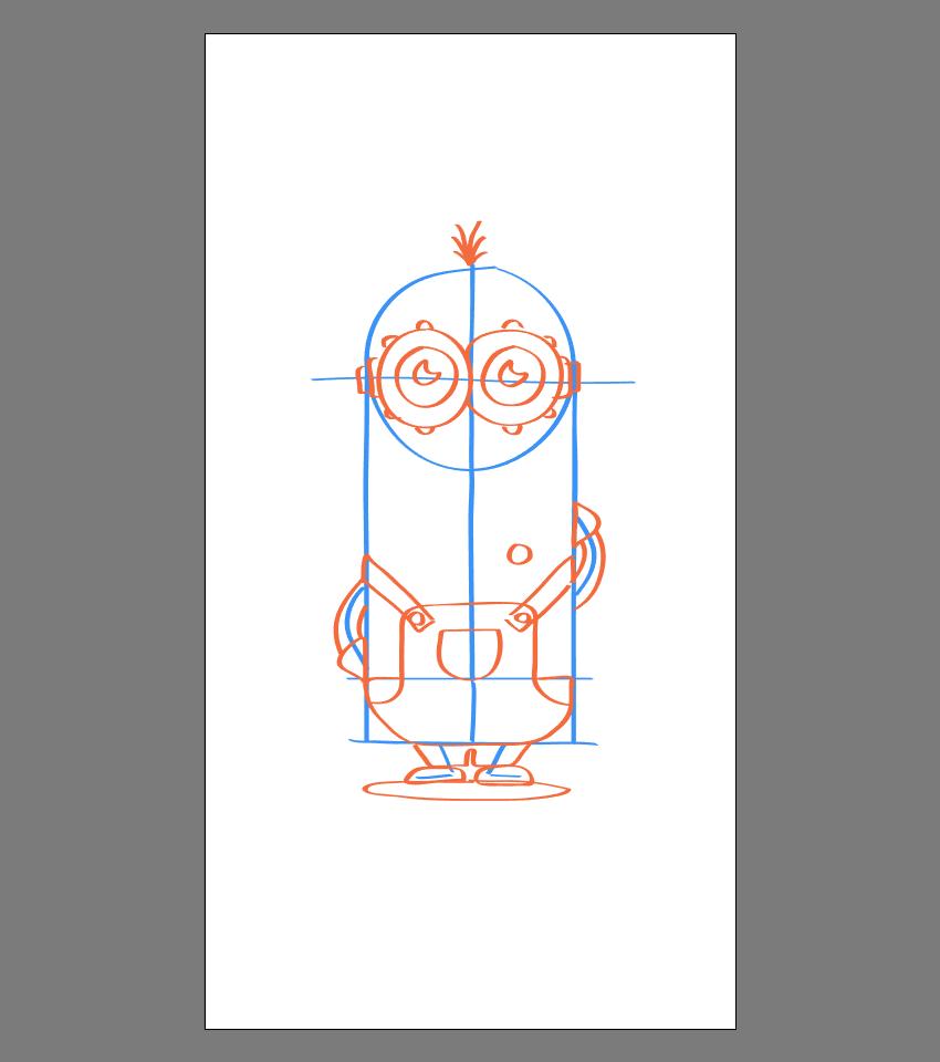 使用Adobe Illustrator绘制矢量小黄人教程 教程-第30张