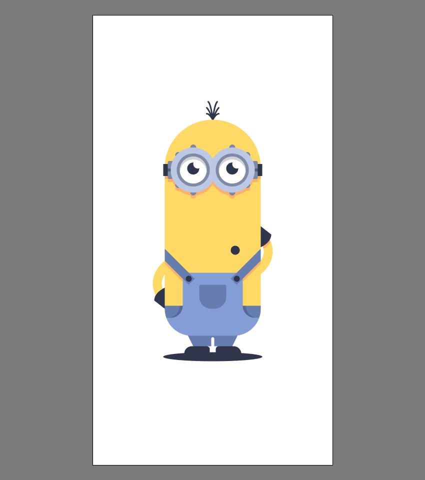 使用Adobe Illustrator绘制矢量小黄人教程 教程-第34张