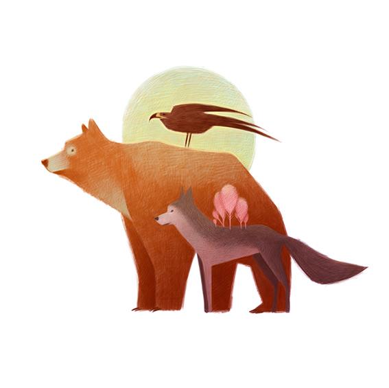 清新可爱动物艺术插画 欣赏-第1张