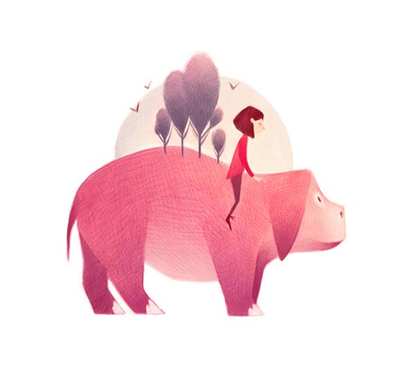 清新可爱动物艺术插画 欣赏-第2张