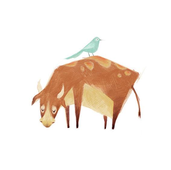 清新可爱动物艺术插画 欣赏-第3张