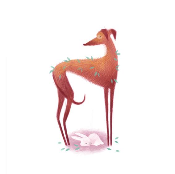 清新可爱动物艺术插画 欣赏-第4张
