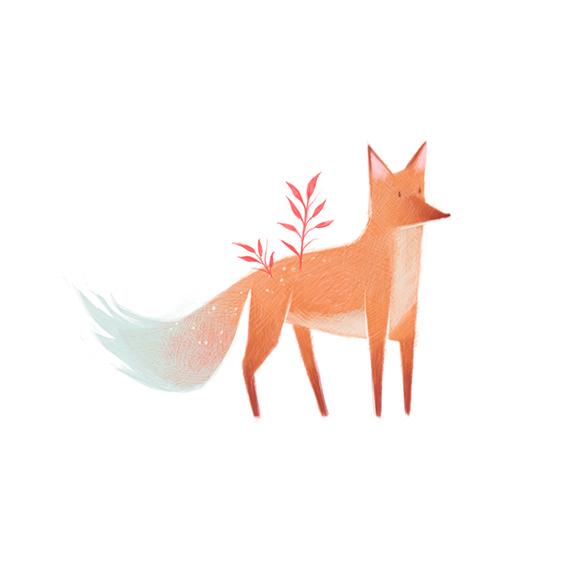 清新可爱动物艺术插画 欣赏-第5张