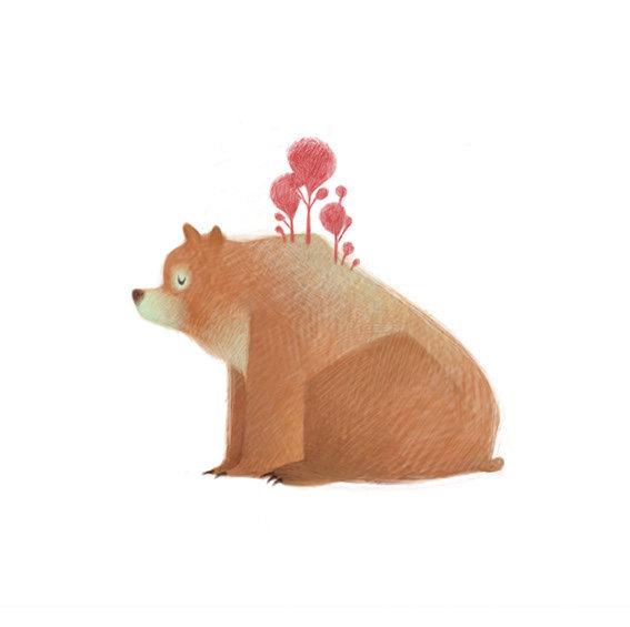 清新可爱动物艺术插画 欣赏-第6张