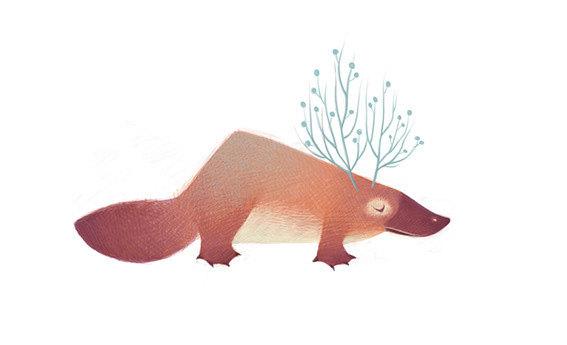 清新可爱动物艺术插画 欣赏-第8张