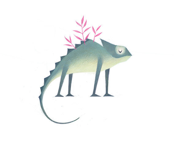 清新可爱动物艺术插画 欣赏-第16张