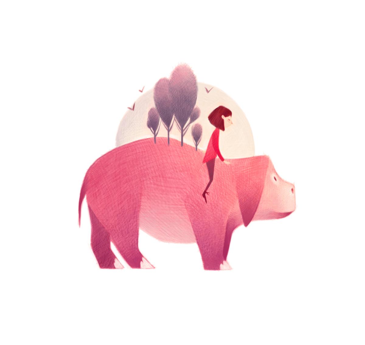 清新可爱动物艺术插画 欣赏-第19张