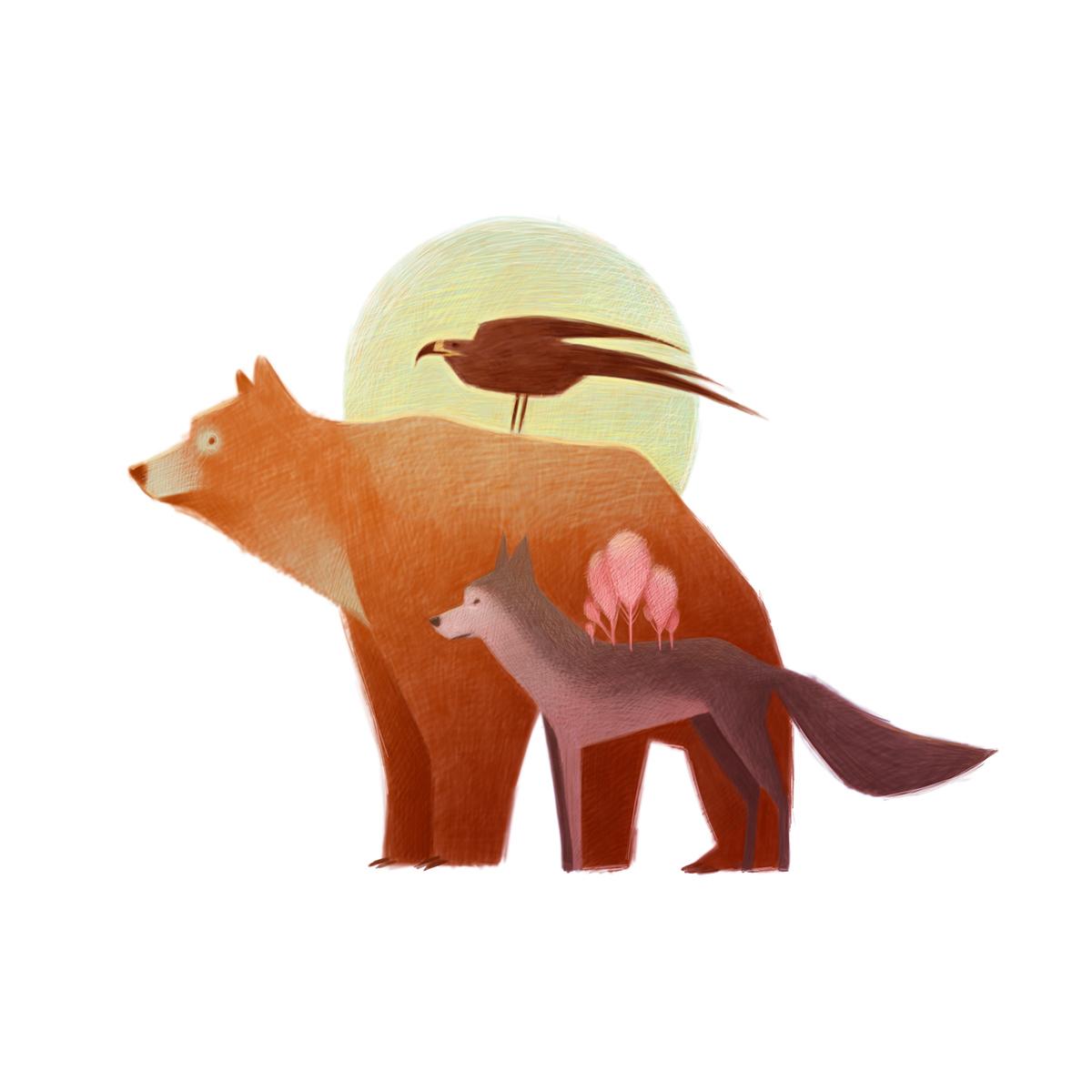 清新可爱动物艺术插画 欣赏-第18张