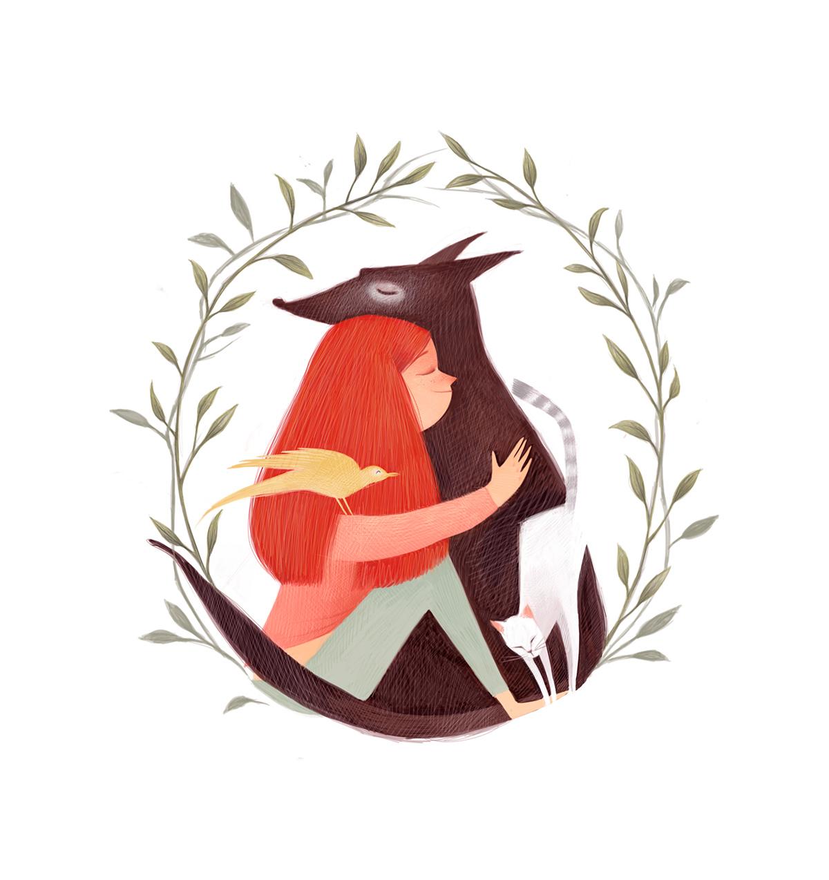 清新可爱动物艺术插画 欣赏-第21张