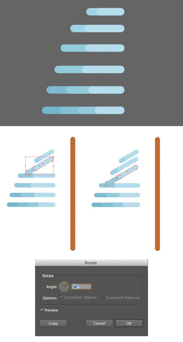 用Adobe Illustrator绘制一个扁平化冬季森林雪景 教程-第4张