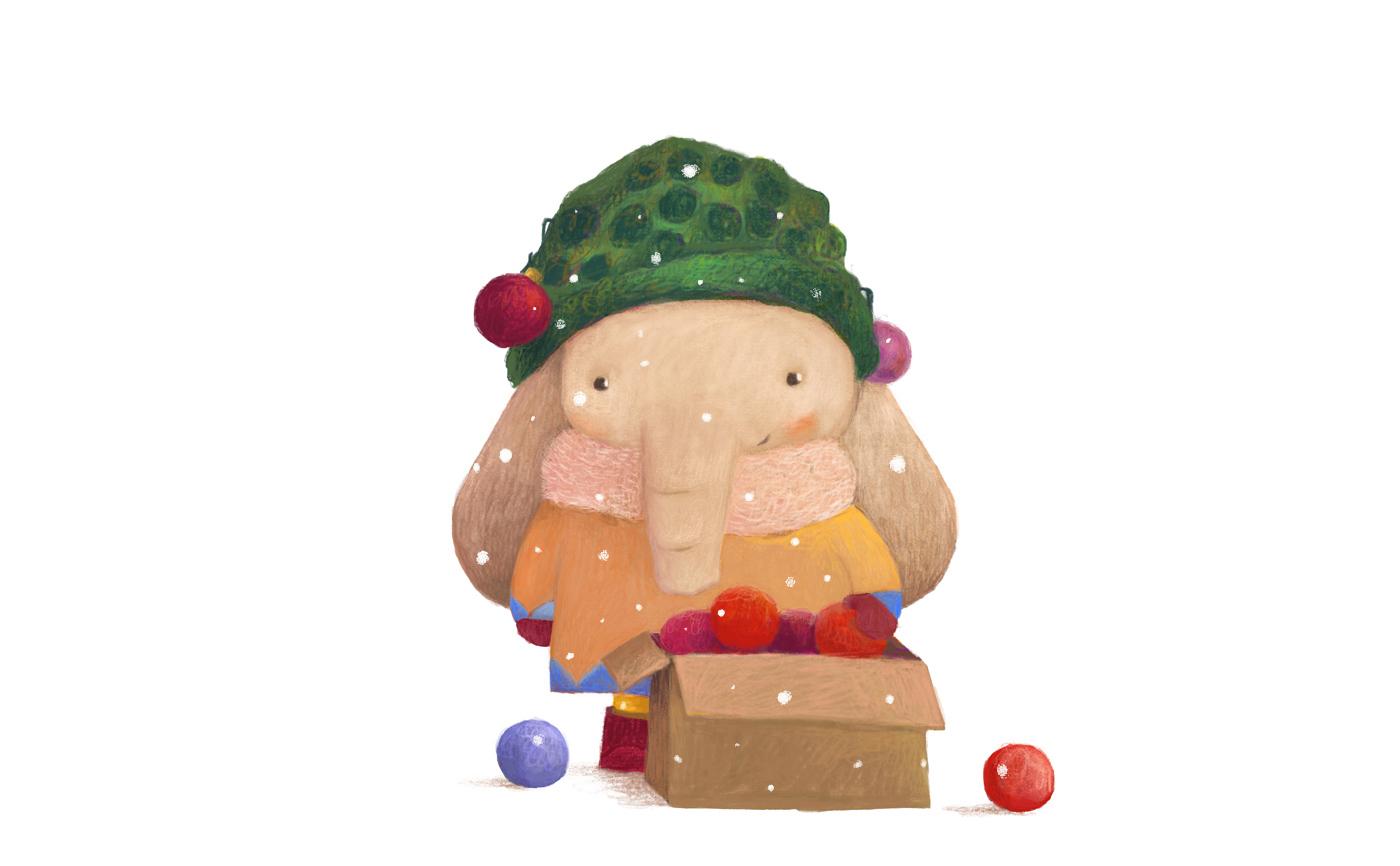 圣诞快乐手绘卡通 欣赏-第5张