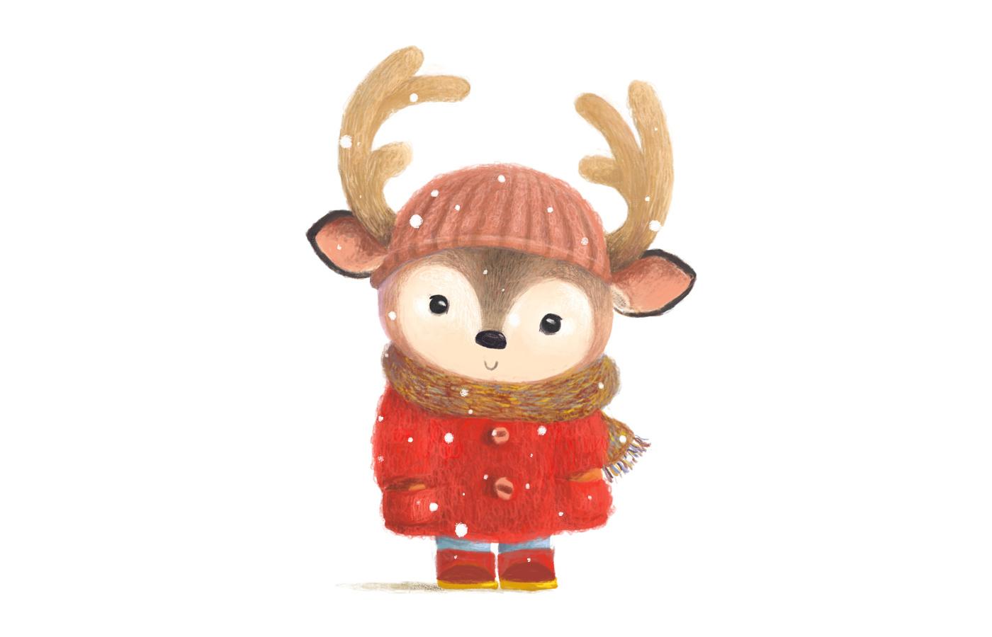 圣诞快乐手绘卡通 欣赏-第6张